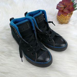 Converse Black Big Boys High Top Sneakers Size 3